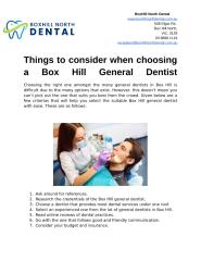 Things to consider when choosing a Box Hill General Dentist.docx